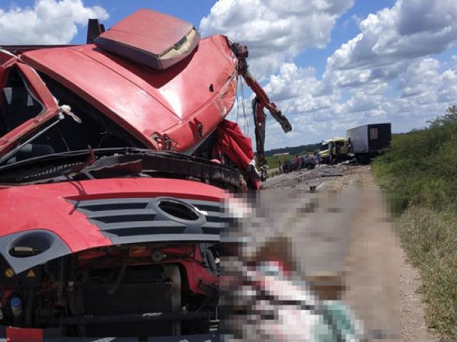 Colisão envolvendo caminhão com placa de Capim Grosso causa morte do seu condutor