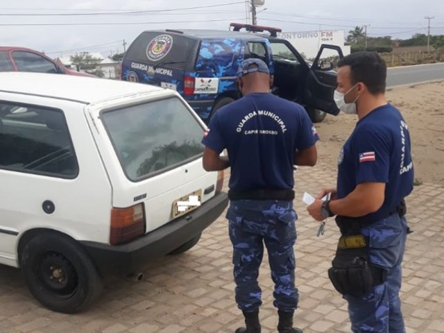 Capim Grosso: Guarda Municipal apreende veículo na Av. Ayrton Sena