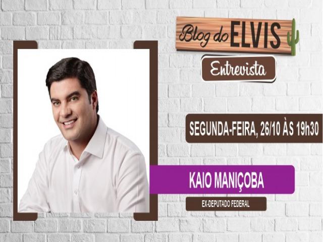 Kaio Maniçoba será entrevistado nessa segunda-feira (26) no Blog do Elvis TV