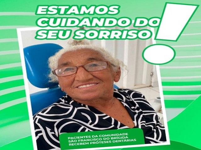 Serrita: Moradores da comunidade do São Francisco Brígida recebem próteses dentárias