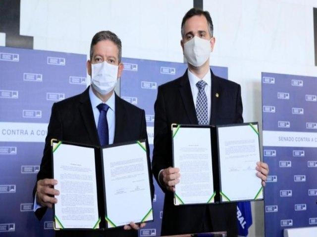 Pacheco e Lira alinham pautas e priorizam reforma tributária e pandemia
